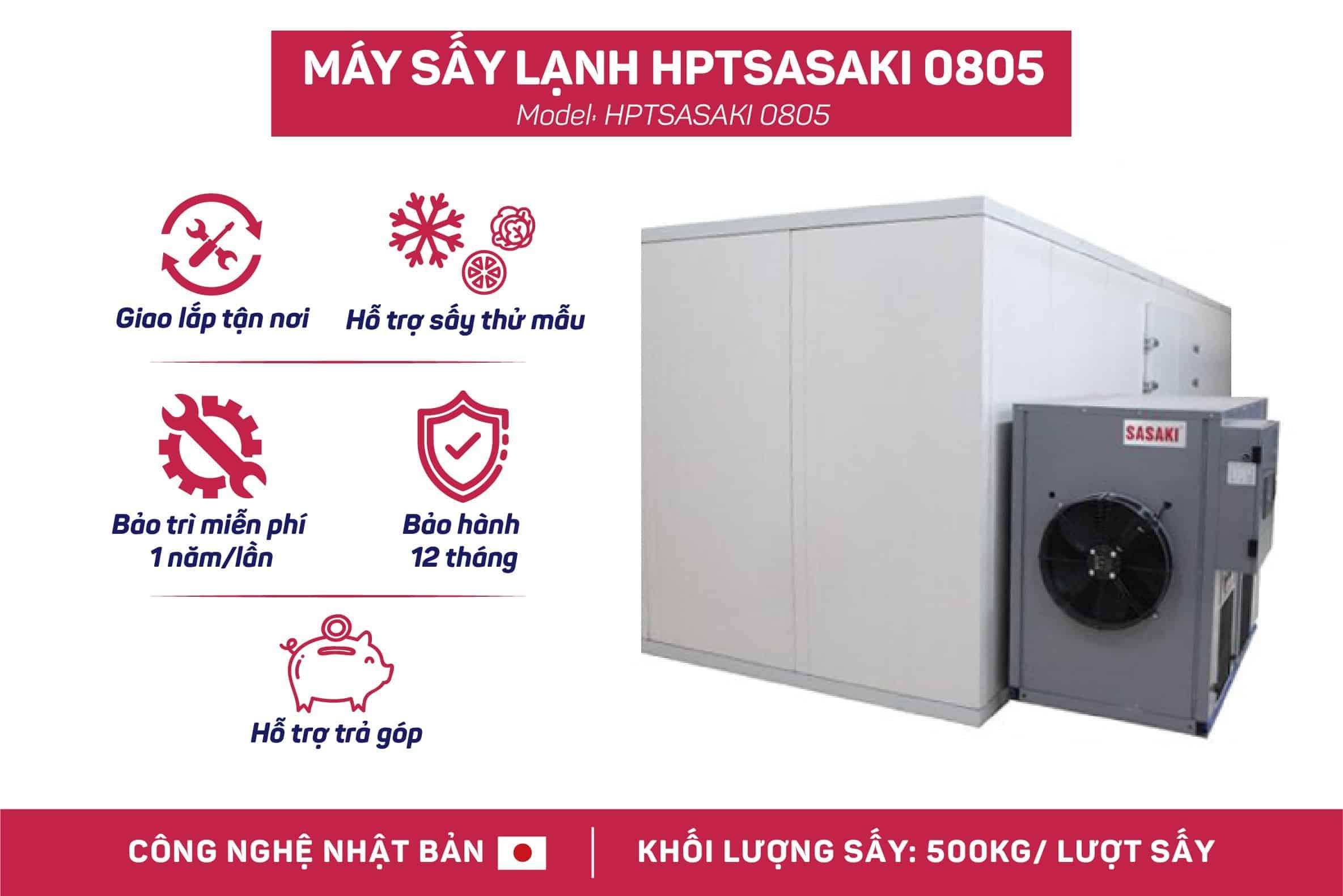 MÁY SẤY HPTSASAKI 0805 - 500kg/lượt sấy - Máy sấy lạnh SASAKI